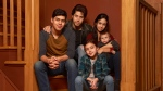 This image released by Freeform shows the cast of 'Party of Five,' Niko Guardado as Beto Buendia, left, Brandon Larracuente as Emilio Buendia, Elle Paris Legaspi as Valentina Buendia, foreground right, and Emily Tosta as Lucia Buendia. The reboot of the 1990s teen drama centers on a Mexican American family whose parents were deported to Mexico. (Vu Ong/Freeform via AP)
