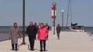 The federal government announced in Bayfield, Ont. on Tuesday, May 21, 2019 that it will fund upgrades to 10 harbours along the shores of Lake Huron. (Scott Miller / CTV London)