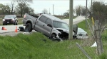 Six people were taken to hospital after a multi-vehicle crash in Innisfil, Ont. on May 22, 2019.
