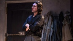Adam Driver during a performance of the play 'Burn This,' in New York. (Matthew Murphy / Polk & Co. via AP)