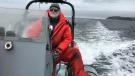 "Barry Rogers, owner of Iceberg Quest Ocean Tours, told CTV News Channel there's ""tons of icebergs and a good flow of tourists to view these beauties"" in Newfoundland and Labrador. (CTV/Iceberg Quest Ocean Tours)"