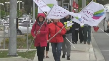 Unions protesting cuts at Grand River Hospital