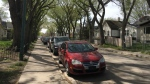 One of the shootings on Tuesday evening took place in the 1900 block of Montreal St. (Taylor Rattray / CTV Regina).