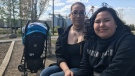 Bonnie Halcrow, left, says she feared for the life of her 10-year-old child, Amekia McKay, during an attack at Pleasant Hill Park. (Saron Fanel/CTV Saskatoon)