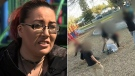 Woman in playground attack speaks out