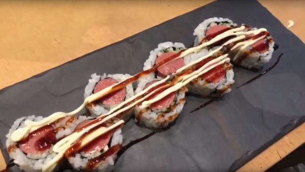 hot dog sushi