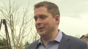 Conservative Leader Andrew Scheer speaks