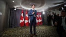 Prime Minister Justin Trudeau speaks at a Liberal Party fundraising lunch in Vancouver, on Wednesday May 22, 2019. (Darryl Dyck / The Canadian Press)