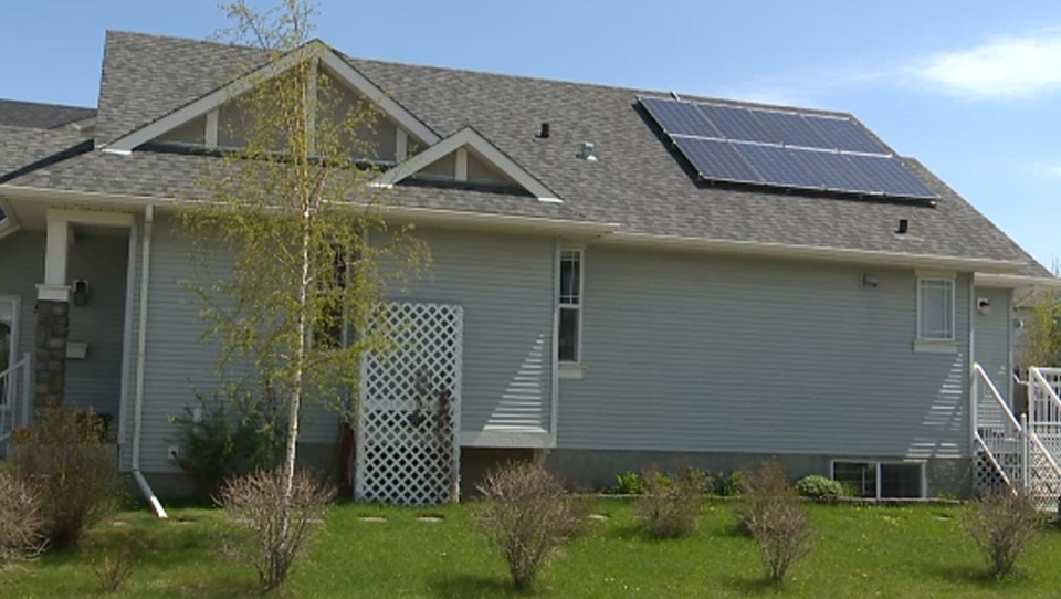 Solar panels on a home in Calgary