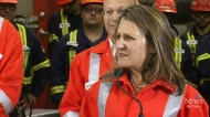 Freeland stops in Regina to talk tariffs