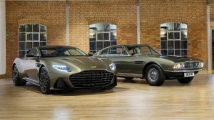 Aston Martin's James Bond edition DBS Superleggera. (Courtesy of Aston Martin / AFP)