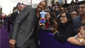 Will Smith at the L.A. premiere of 'Aladdin'