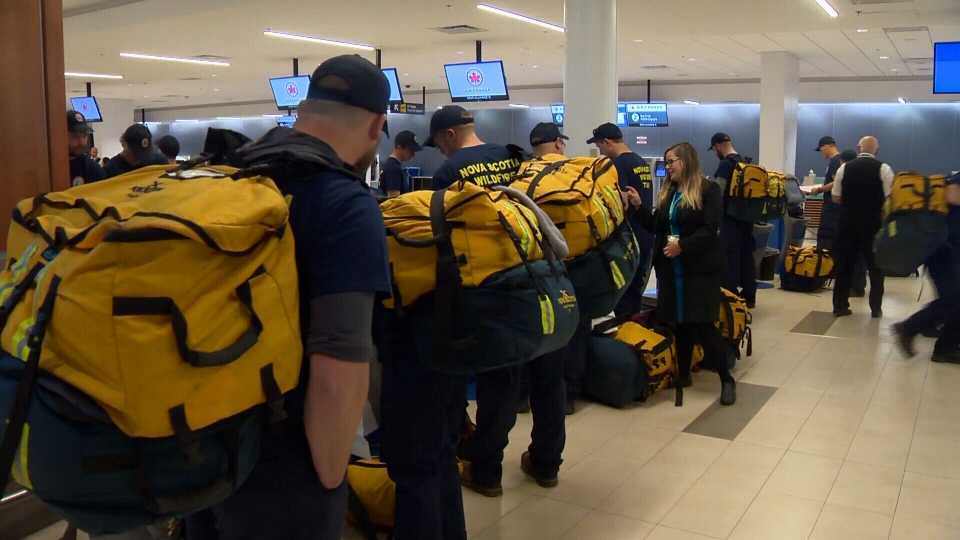 Firefighters leave Halifax to join the front lines of the High Level fire in Alberta.