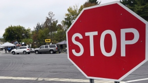 A stop sign in Schoharie, N.Y.