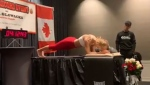 Montreal fitness buff Dana Glowacka set a new world record for longest plank position held by a woman with a four hour, 20 minute pose.