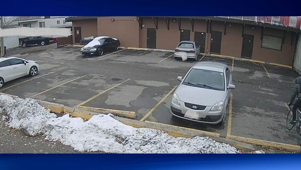 Police also released a photo from CCTV of the rear parking lot of a Bridgeland apartment where 29-year-old Boisseau was believed murdered.