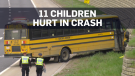 Edmonton school bus crash: 11 children hurt