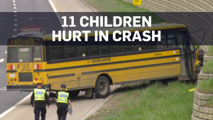 Edmonton school bus crash: 11 children hurt