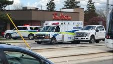 Paramedics on scene of a distrubance