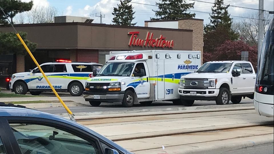 One person was seen with what looked like multiple wounds on his chest. (Dan Lauckner / CTV Kitchener)