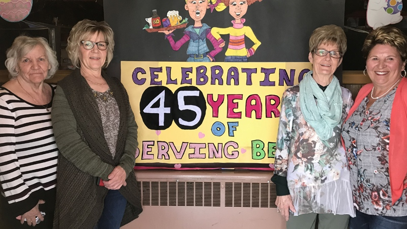 The Wildwood, Alta., community threw a party for Gladys in April to celebrate her 45 years at the Silver Spur Saloon.