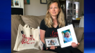 """Gillian Hatto holds up a photo of her baby daughter Hazel Rose, who passed away at three months old in 2014. She created a retreat to bring together other moms who've had similar experiences."""