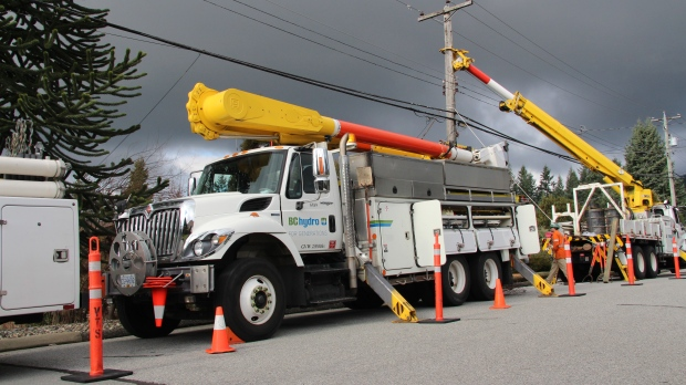 BC Hydro pole replacement