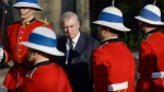 Prince Andrew, the Duke of York, performs an inspection of the Guard of Honour during a visit to Government House in Halifax on Thursday, May 23, 2019. THE CANADIAN PRESS/Darren Calabrese