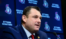 D.J. Smith is announced as the Ottawa Senators new head coach at a press conference in Ottawa on Thursday, May 23, 2019. THE CANADIAN PRESS/Sean Kilpatrick