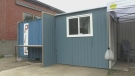 Shipping container turned into affordable housing