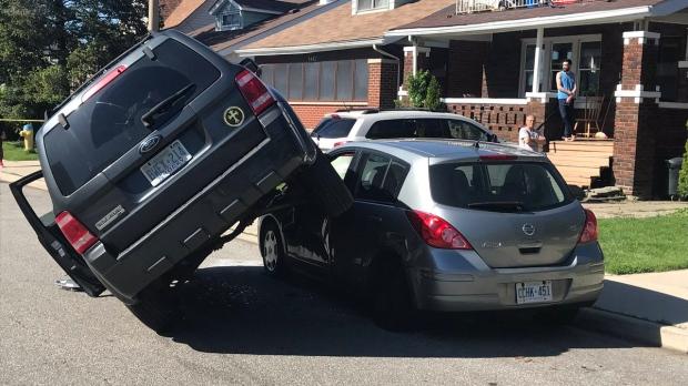 SUV on Car