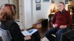 Gordon Lightfoot talks to CTV Natoinal News' Chief Anchor and Senior Editor Lisa LaFlamme. (Rosa Hwang)