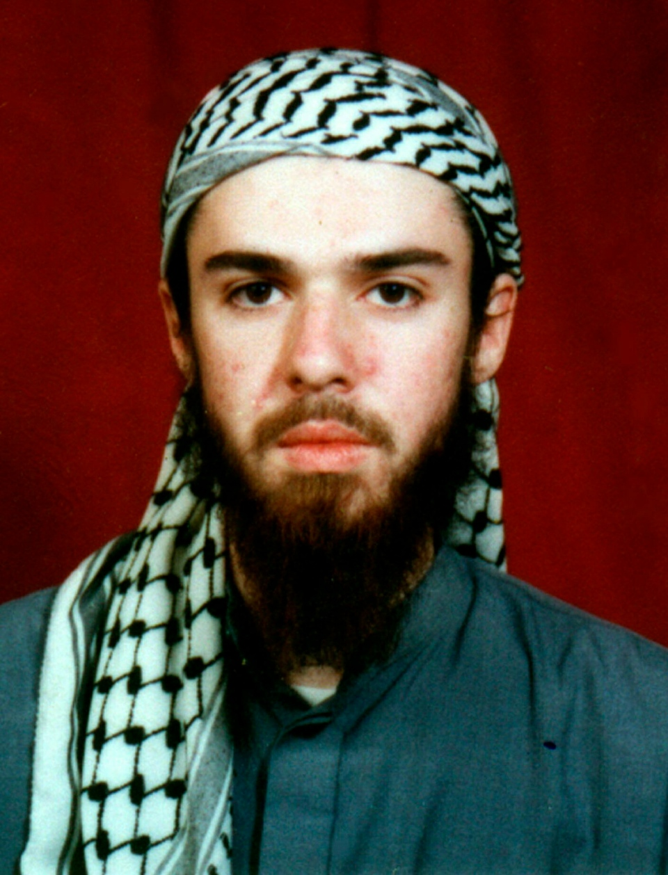 FILE - American John Walker Lindh is seen in this undated file photo obtained Tuesday, Jan. 22, 2002, from a religious school where he studied for five months in Bannu, 304 kilometers (190 miles) southwest of Islamabad, Pakistan. (AP Photo, File)