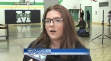 Students at a Timmins high school launch human trafficking awareness campaign. Lydia Chubak reports.
