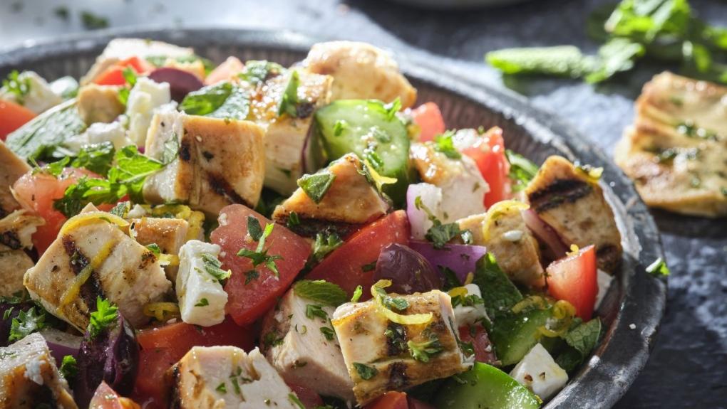Grilled Turkey Village Salad