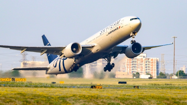 Air France airliner takes off
