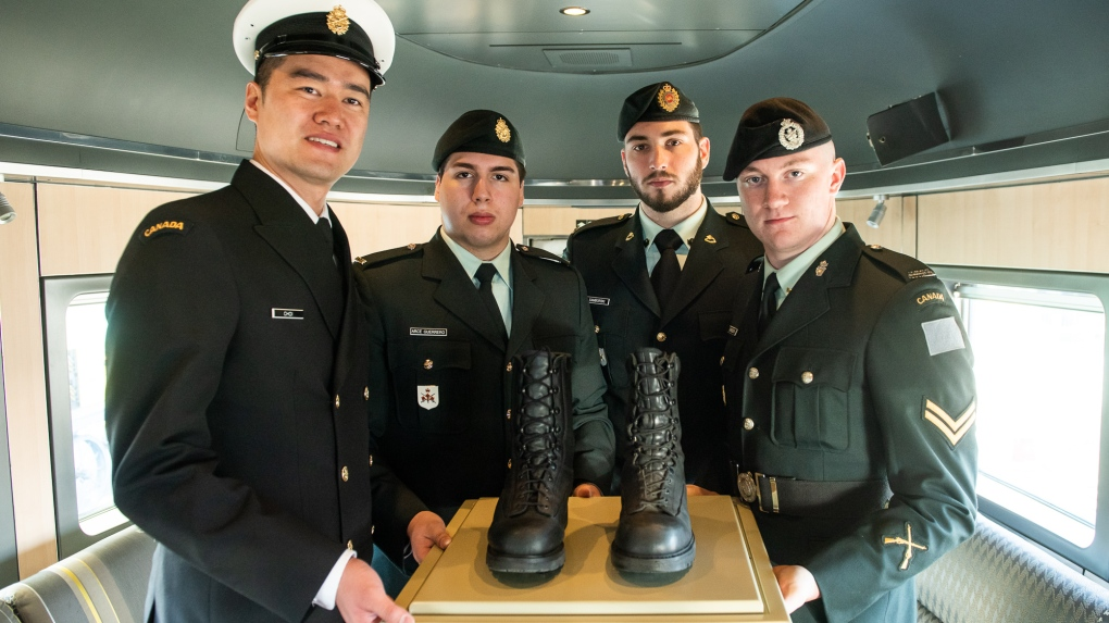 Combat boots make symbolic journey from Quebec City ahead of D-Day anniversary