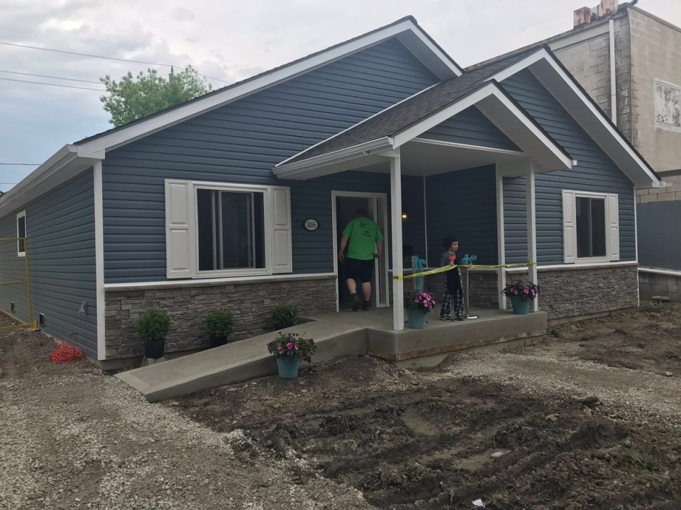 The home was dedicated to the Warsama family in Windsor, Ont., on Friday, May 24, 2019. (Angelo Aversa / CTV Windsor)