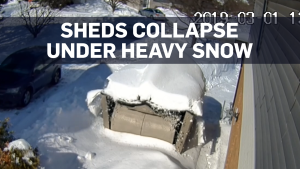 Ontario man's sheds collapse under heavy snowfall