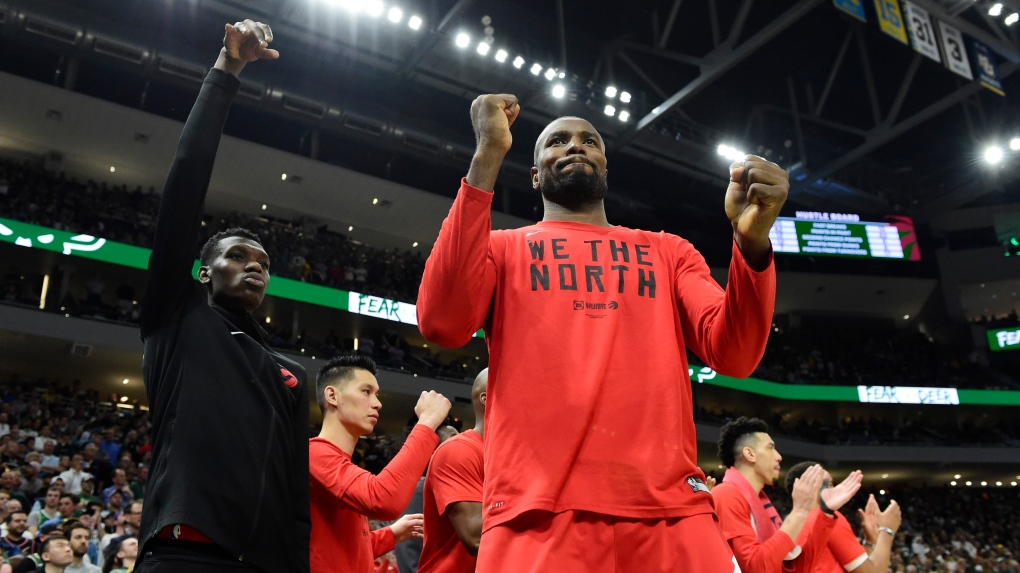 Canadian athletes showing support for Toronto Raptors around the world