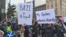 A poll shows the majority of English-speaking Quebecers don't support Bill 21
