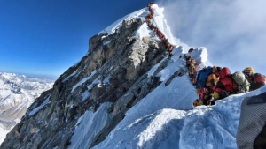 Nirmal Purja's photo, posted on Instagram, shows a line of people climbing Mount Everest. (Instagram / @nimsdai)