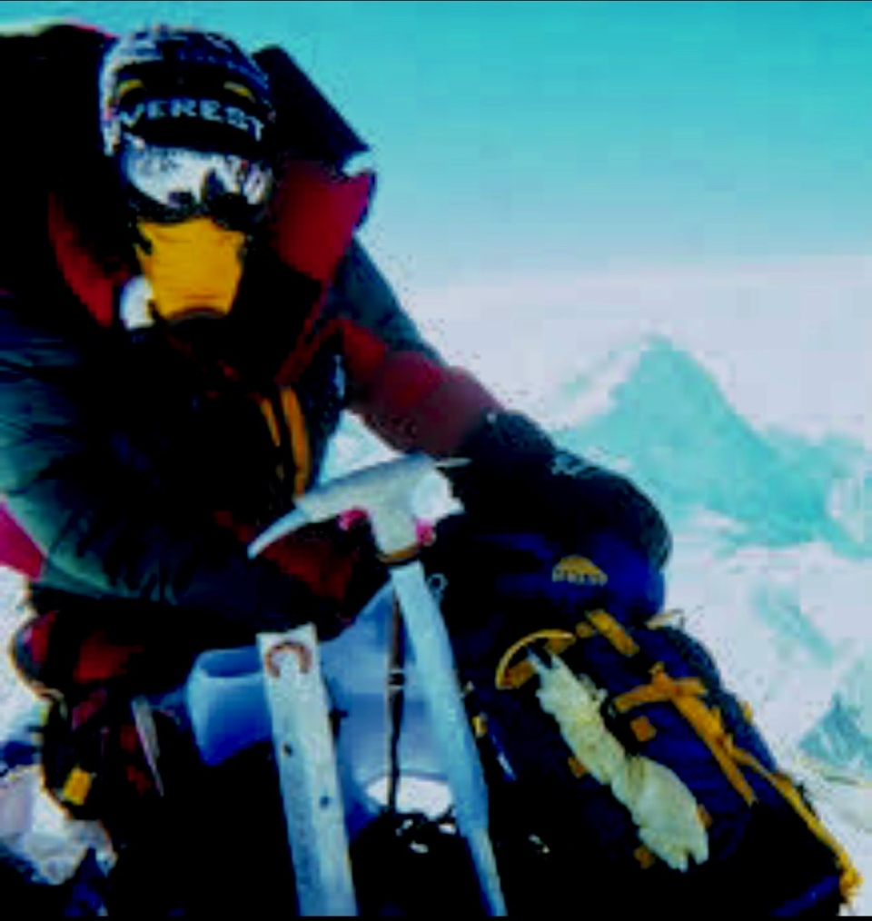 Dave Rodney, who became the first Canadian to summit Mount Everest twice, is pictured during one of his climbs.