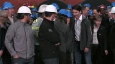 Trudeau visits Sault Ste. Marie steel workers