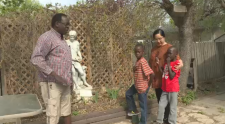 Ben Kibuli and Emmanuel Makpe were reunited with their family in Regina, after a long trip from Uganda.