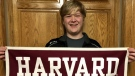 Braxton Moral, 17, is graduating from Harvard University.