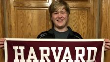 Braxton Moral graduating from Harvard University