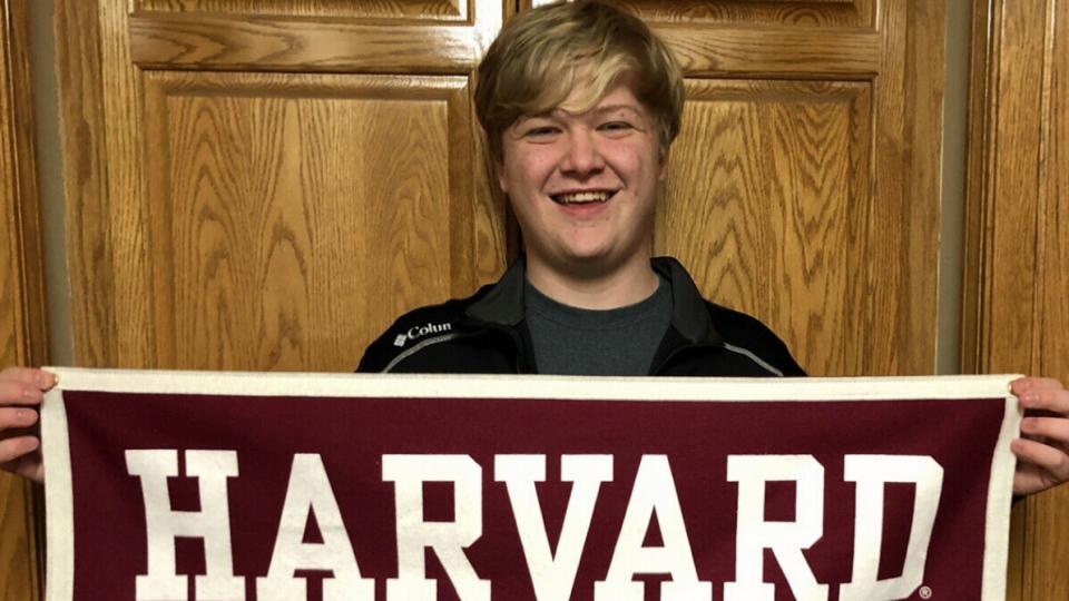 Braxton Moral, 17, is graduating from Harvard University.