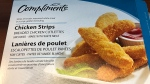 A box of Compliments brand Chicken Strips are shown. (Canadian Food Inspection Agency)