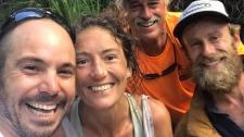 Amanda Eller, centre, was found injured in the Makawao Forest Reserve. (Findamanda / Facebook)
